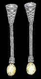 Platinum Earrings with Briolette Yellow Diamonds